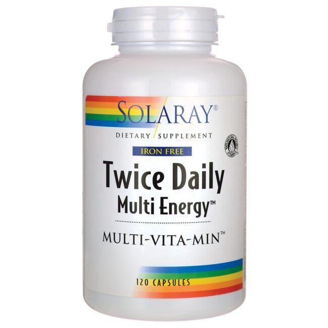 Solaray Iron Free Twice Daily Multi Energy Multi-Vita-Min
