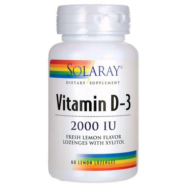 Solaray Vitamin D-3 - Lemon