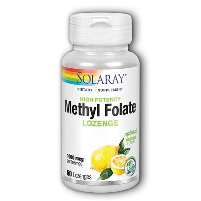 Solaray High Potency Methyl Folate - Lemon