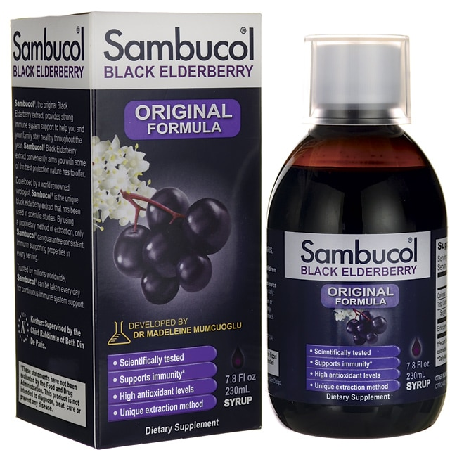 Sambucol black elderberry original syrup