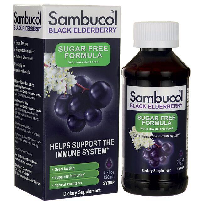 SambucolBlack Elderberry Syrup Sugar Free Formula