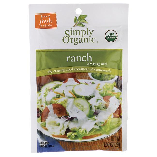 Simply OrganicRanch Dressing Mix