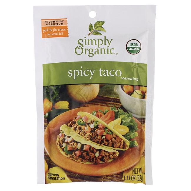 Simply Organic Spicy Taco Seasoning