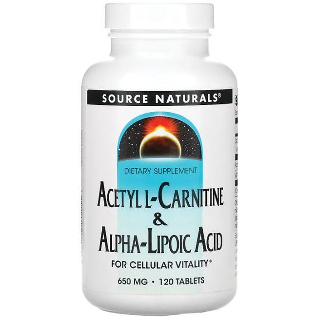 Source NaturalsAcetyl L-Carnitine & Alpha Lipoic Acid