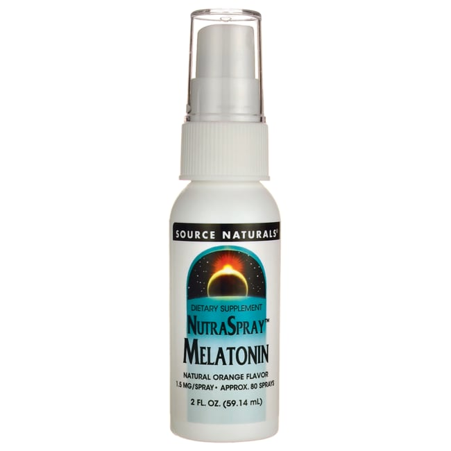 Source NaturalsNutraSpray Melatonin Natural Orange Flavor