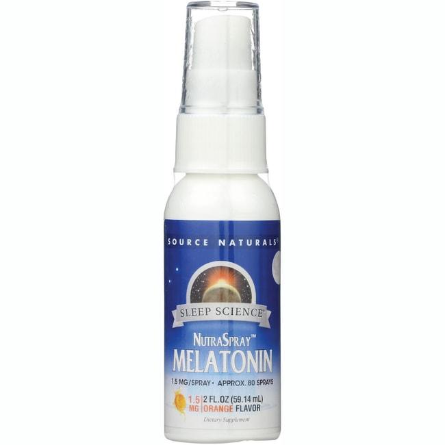 Source Naturals NutraSpray Melatonin Natural Orange Flavor