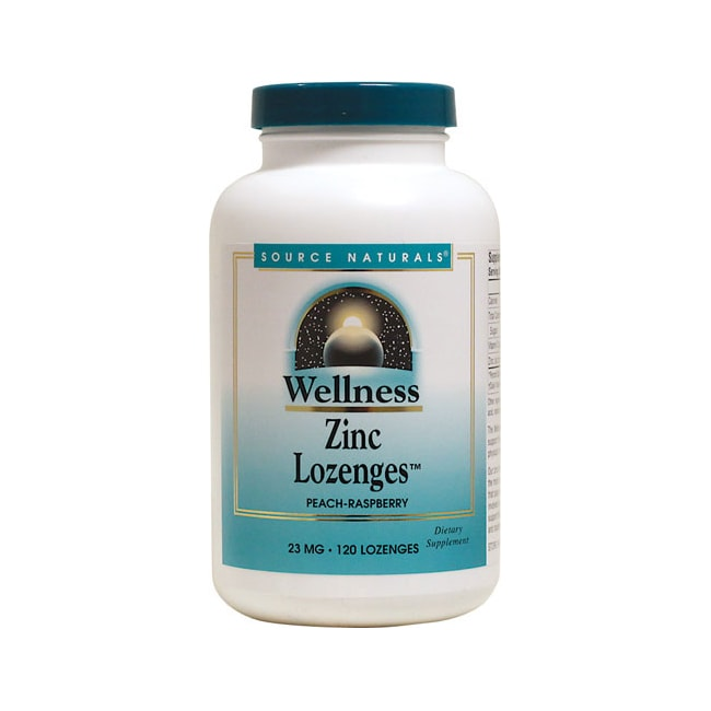Source NaturalsWellness Zinc Lozenges Peach Raspberry