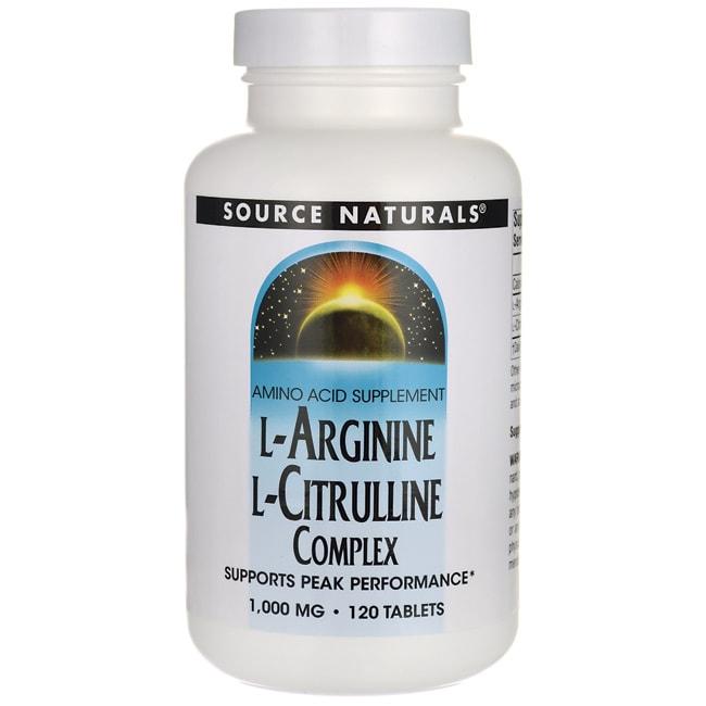 Source Naturals L-Arginine L-Citrulline Complex 120 Tabs ...