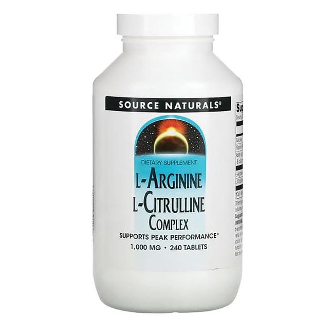 Source Naturals L-Arginine L-Citrulline Complex 240 Tabs ...