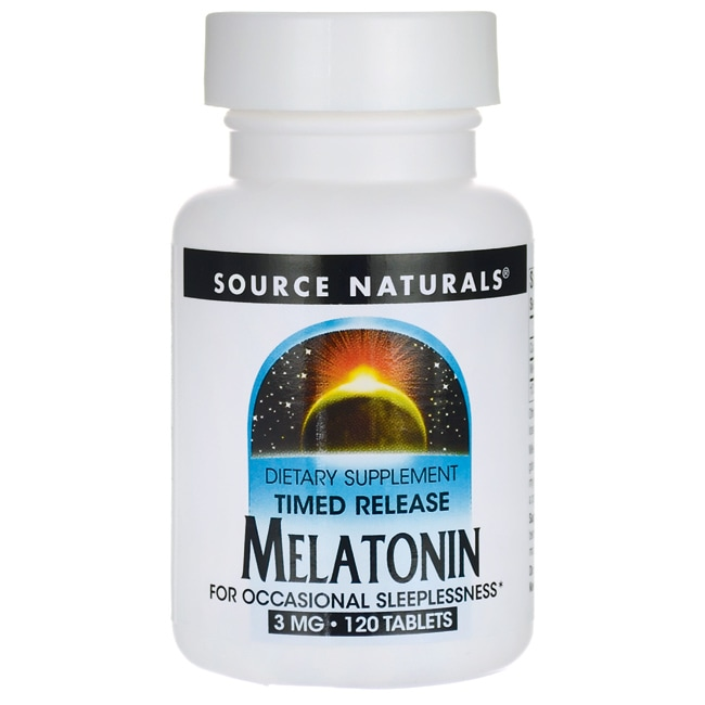 Melatonin Timed Release 3mg By Source Naturals - 120 Tablets