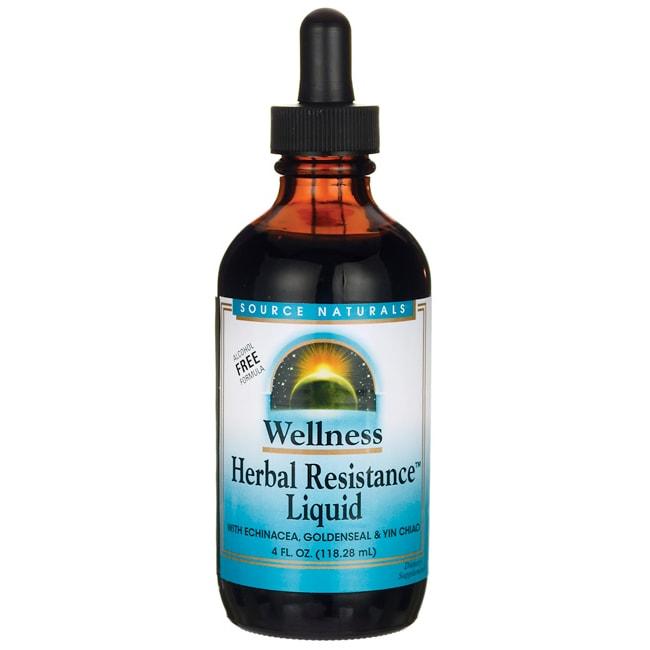 Source Naturals Wellness Herbal Resistance Liquid - Alcohol Free Formula