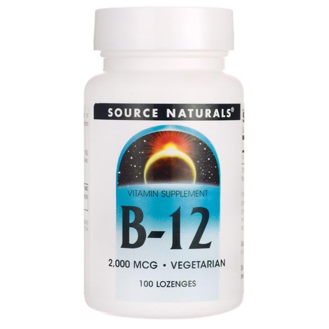 Source Naturals B-12 2,000 mcg 100 Lozenges