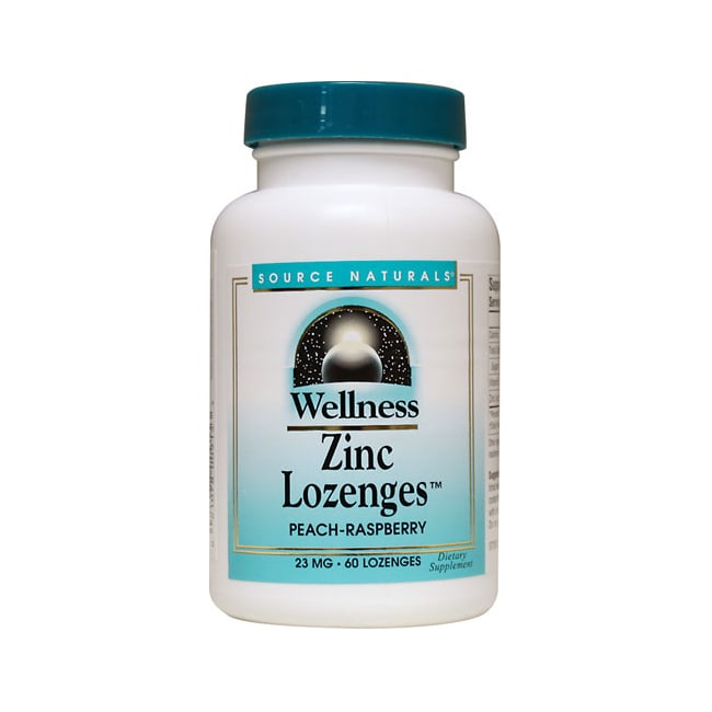 Source Naturals Wellness Zinc Lozenges Peach-Raspberry Flavor