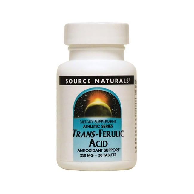 Source Naturals Trans-Ferulic Acid 250 mg 30 Tabs ...