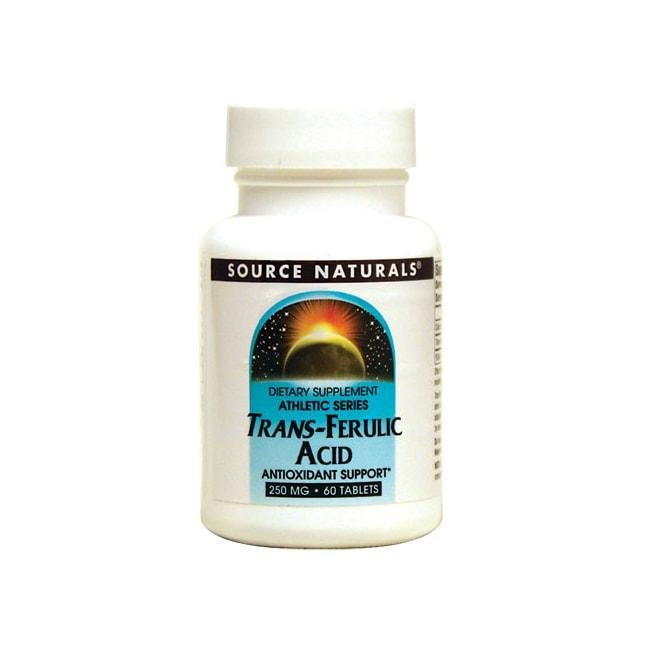 Source Naturals Trans-Ferulic Acid 250 mg 60 Tabs ...