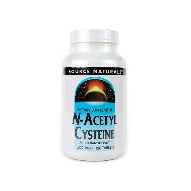 Source Naturals N-Acetyl Cysteine 1,000 mg 120 Tabs ...
