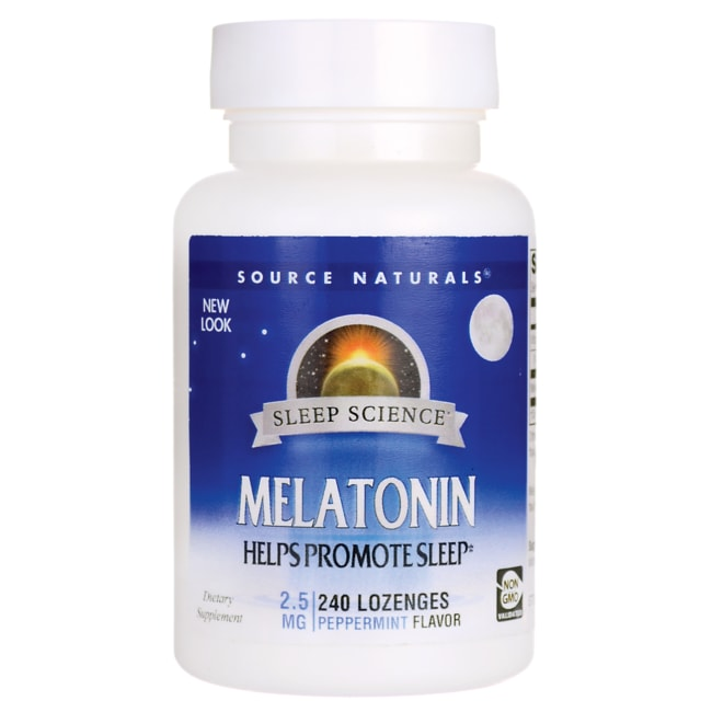 Source Naturals Melatonin Peppermint Flavored Sublingual