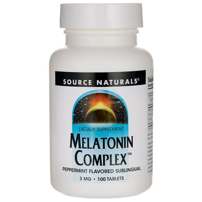 Source NaturalsMelatonin Complex - Peppermint Flavored Sublingual