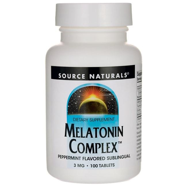 Source NaturalsMelatonin Complex - Peppermint Flavored Sublingual