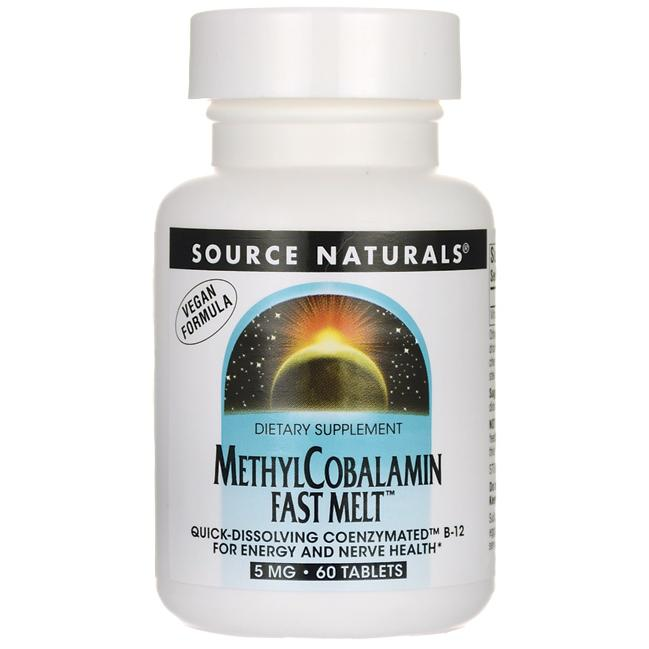 Source Naturals MethylCobalamin Fast Melt
