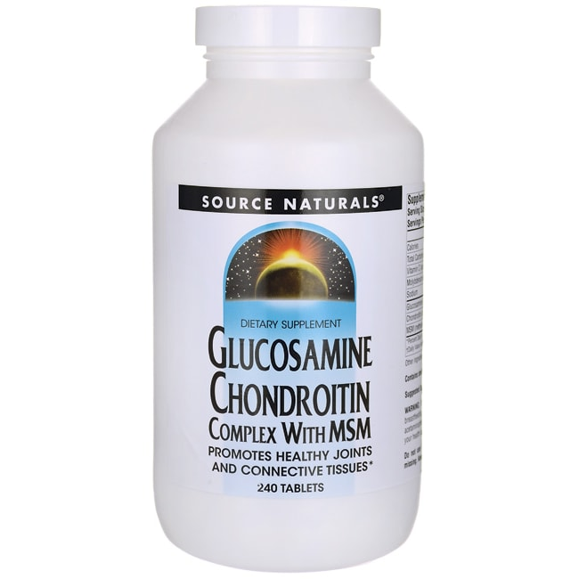 Source NaturalsGlucosamine Chondroitin Complex with MSM