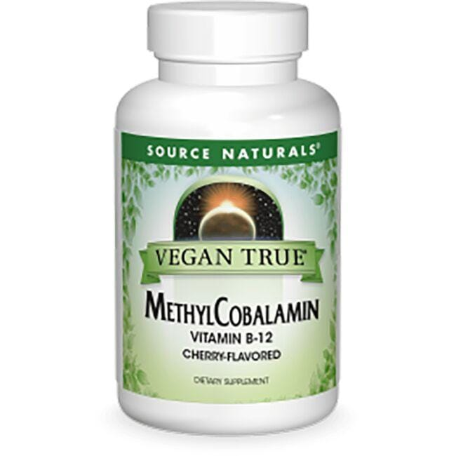 Source Naturals Vegan True MethylCobalamin Vitamin B-12 - Cherry