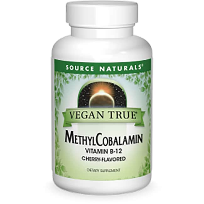 Source NaturalsVegan True MethylCobalamin Vitamin B-12 - Cherry Sublin