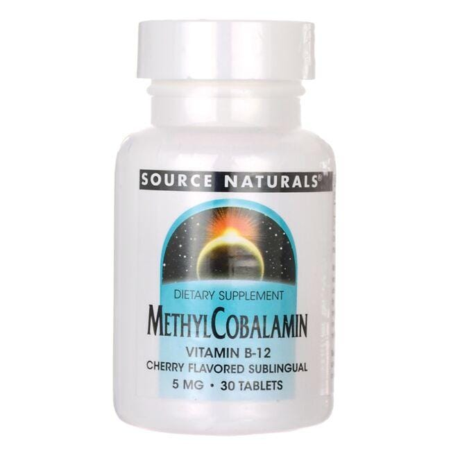 Source Naturals MethylCobalamin Vitamin B-12 - Cherry