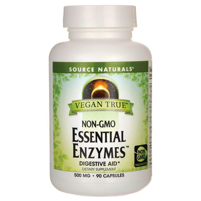 Source Naturals Vegan True Non-GMO Essential Enzymes