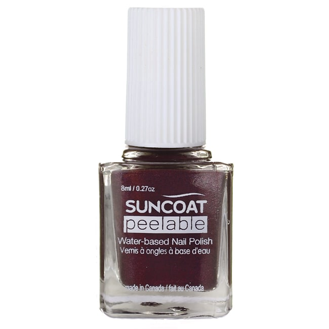 Suncoat Peelable Water Based Nail Polish Mulberry 0 27 Oz Liquid Swanson Health Products