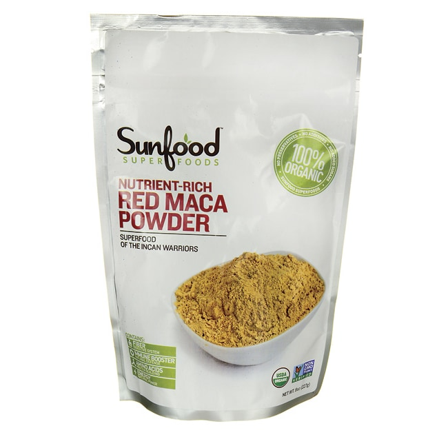 Sunfood Nutrient-Rich Red Maca Powder