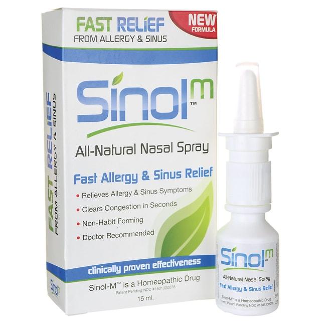 SinolSinol-M All Natural Nasal Spray-Fast Allergy & Sinus Relief