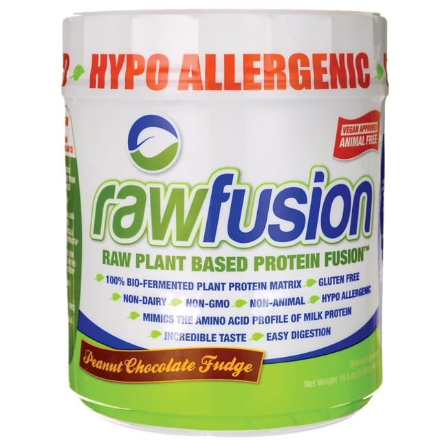 San NutritionRawFusion Plant Based Protein - Peanut Chocolate Fudge
