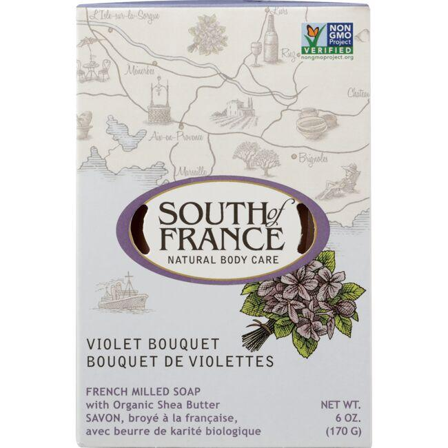 South of FranceFrench Milled Oval Soap - Violet Bouquet