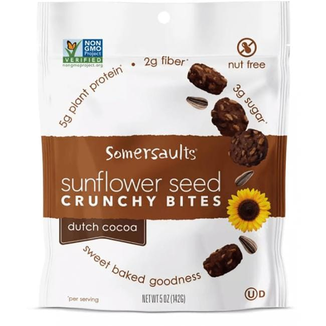 Somersault Snack Co.Sunflower Seeds Crunchy Bites - Dutch Cocoa