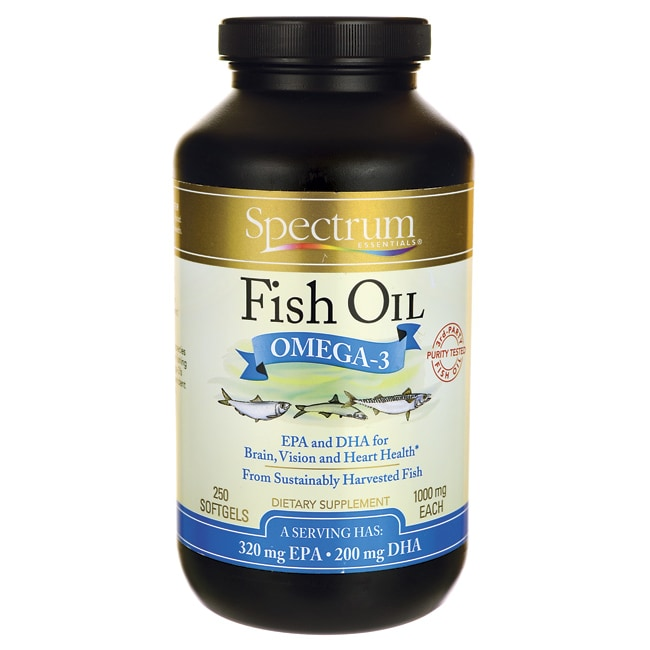 Spectrum essentials fish oil 1 000 mg 250 sgels swanson for Spectrum fish oil
