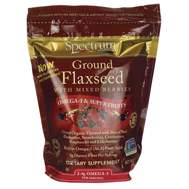 Spectrum Essentials Organic Ground Flaxseed with Mixed Berries
