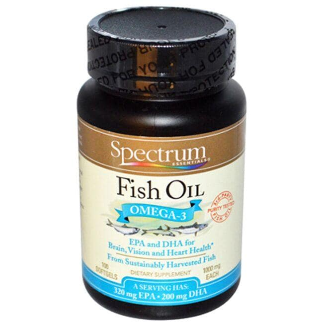 Spectrum essentials fish oil omega 3 epa and dha 1 000 mg for Epa dha fish oil