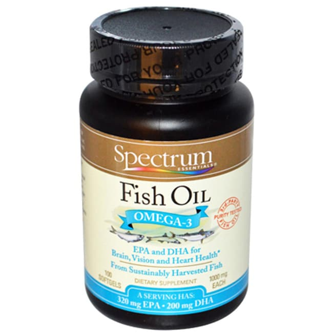 Spectrum essentials fish oil omega 3 epa and dha 1 000 mg for Wd 40 fish oil