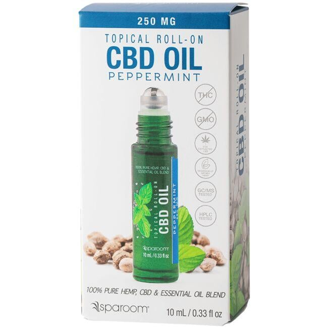 SpaRoom Essentials Roll-on CBD Oil- Peppermint