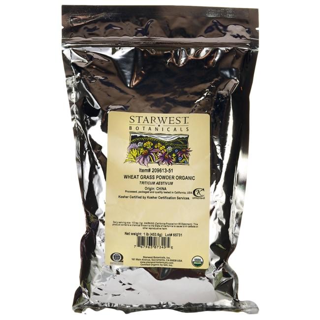 Starwest Botanicals Wheat Grass Powder Organic