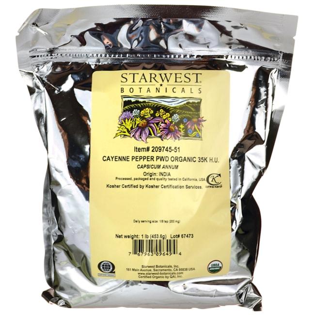Starwest Botanicals Cayenne Powder Organic