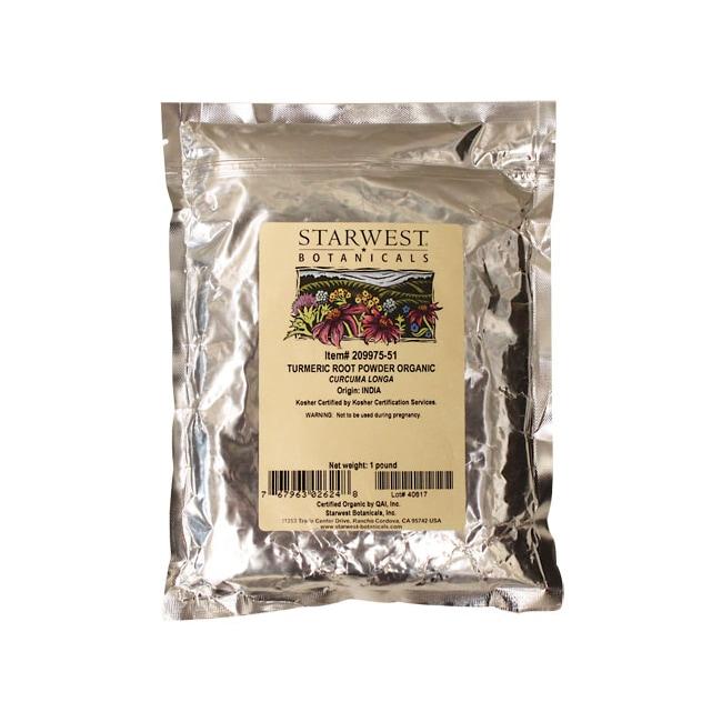 Starwest Botanicals Turmeric Root Powder Organic