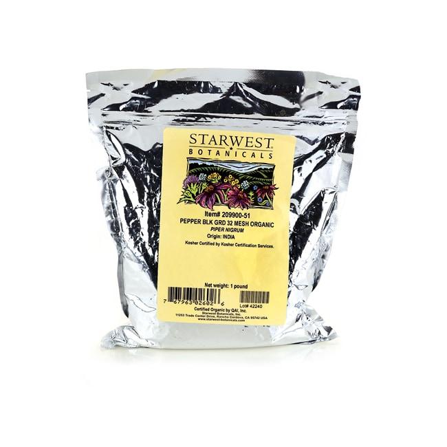 Starwest Botanicals Pepper Black Ground 32 Mesh Organic