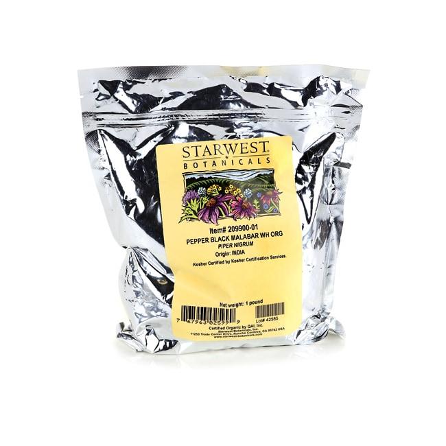 Starwest BotanicalsPepper Black Malabar Whole Organic