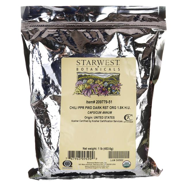 Starwest Botanicals Chili Pepper Powder Dark Roast Organic