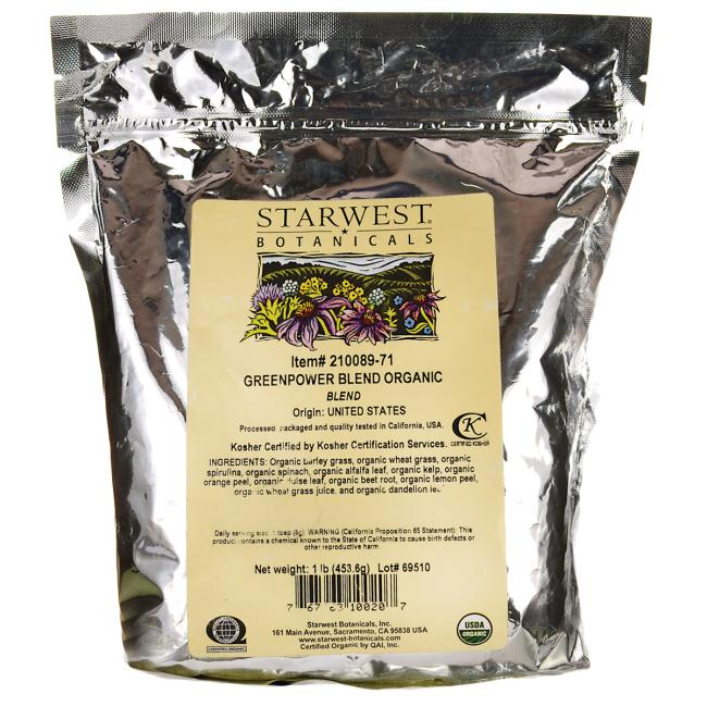 Starwest BotanicalsGreenPower Blend Organic