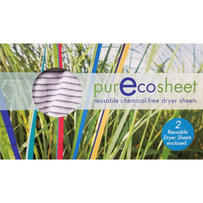 Static EliminatorPurEcoSheet Reusable Chemical-Free Dryer Sheets