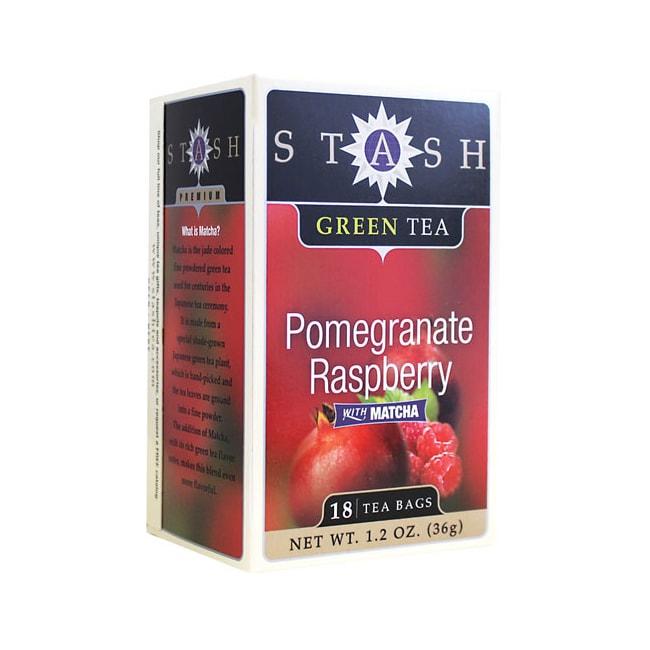 Stash Tea Pomegranate Raspberry Green Tea with Matcha