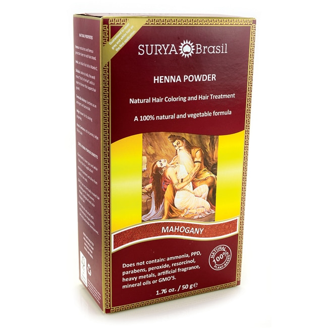 Surya BrasilHenna Powder Hair Coloring Mahogany